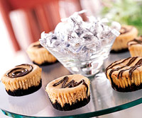 Peanut Butter-Chocolate Cheesecakes