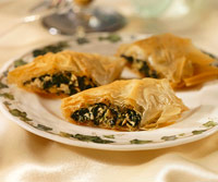 Chicken-Spinach Phyllo Rolls