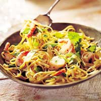 Scallops and Shrimp with Linguine