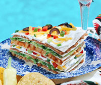 Tex-Mex Chicken and Tortilla Stack