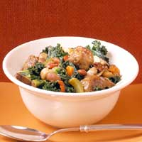 Sausage, Kale, and Bean Stew