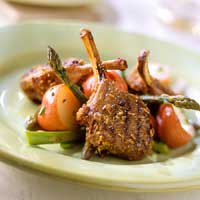 Grilled Fennel-Cumin Lamb Chops