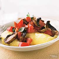 Creamy Polenta with Portobello Mushroom Sauce