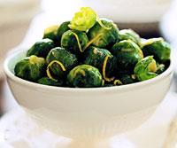 Brussel Sprouts with Lemon Sauce