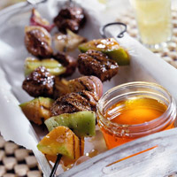 Jamaican Pork with Melon