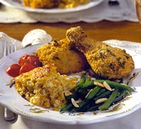 Oven-Roasted Chicken with Spicy Cornmeal Crust