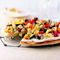 Low-Fat Grilled Vegetables on Focaccia