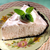 Pink Peppermint Chiffon Pie