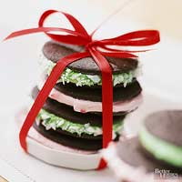 Chocolate-Peppermint Sandwiches