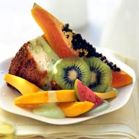Image of Angel Food Cake With Tropical Fruits, Better Homes and Garden