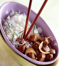 Beef and Garlic Rice