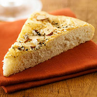 Swiss Cheese-Almond Flatbread