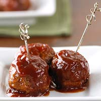 Cranberry-Sauced Meatballs Appetizer
