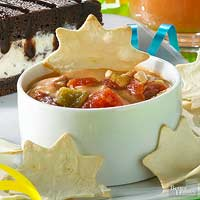 Queso Dip with Tortilla Stars