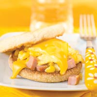 Corny Egg and Ham Sandwiches
