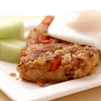 Oatmeal Meat Loaf Slices