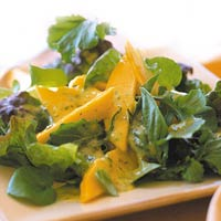 Salad with Mango Dressing