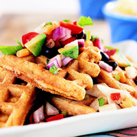 Waffles with Salsa