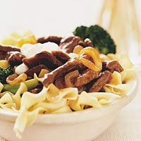 Beef Stroganoff with Pasta