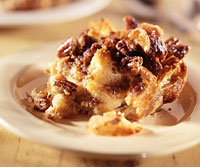 Banana-Pecan Streusel Bread Pudding