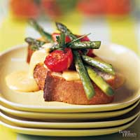 Rarebit Sauce with Roasted Vegetables