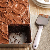 Dark Cocoa Buttermilk Cake with Cocoa Mascarpone Frosting