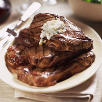 Grilled Steaks with Gorgonzola Butter