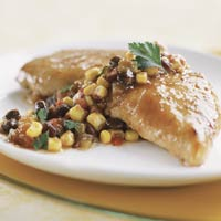 Turkey Tenderloin with Bean-and-Corn Salsa