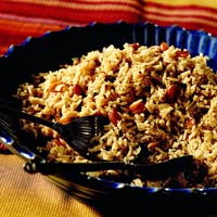 Spiced Basmati Rice with Peanuts