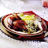 Cornish Game Hens with Port Sauce