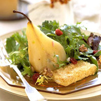 Champagne Poached Pear Salad