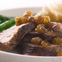 Pork with Raisin Sauce