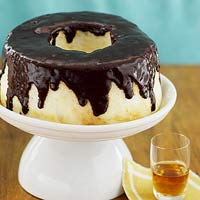 Chocolate-Drizzled Angel Food Cake