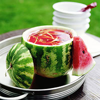 Watermelon Soup with Vegetables