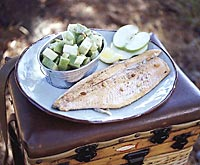 Grilled Red Trout with Apple Salad
