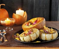 Grilled Pumpkin Bowl with Veggies