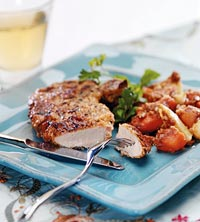 Pork Chops with Sweet Potatoes and Pears