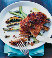 Pecan-Crusted Chicken Cutlets with Lemon and Capers