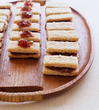 White Cheddar Shortbread Sandwiches