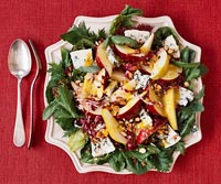 No-Fuss Blue Cheese and Pear Salad with Apricot Nectar Dressing