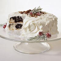 White Chocolate Snowdrift Cake
