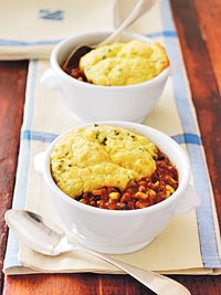 Turkey Chili Corn Bread Casseroles