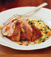 Leg of Lamb with Pistachio Couscous