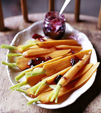 Carrots with Grape and Port Glaze