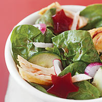 Cranberry-Turkey Spinach Salad