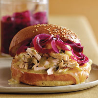 Chicken, Pepper Jack, and Pickled Onion Sandwich