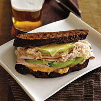 Smoked Turkey Reuben with Green Apple