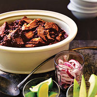 Pork Rib Black Bean Chili