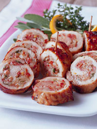 Prosciutto-and-Cheese-Stuffed Pork Roll-Ups