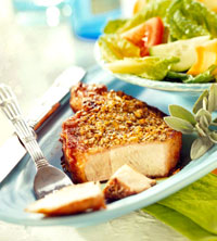 Lemon-and-Herb-Rubbed Pork Chops